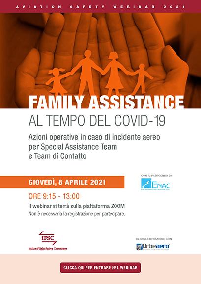 IFSC Webinar Family assistance al tempo del Covid-19. Locandina