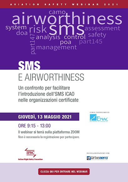 IFSC Webinar SMS e Airworthiness. Locandina