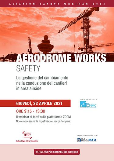 IFSC Webinar Aerodrome works safety. Locandina